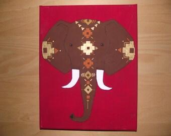 Brown Aztec Elephant