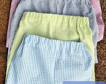 Baby Boys Shorts- Toddler Boys Shorts- Boys Shorts- Monogram Shorts- Seersucker Shorts- Gingham Shorts- 6m,9m, 12m, 18m, 2t, 3t, 4t, 5t, 6