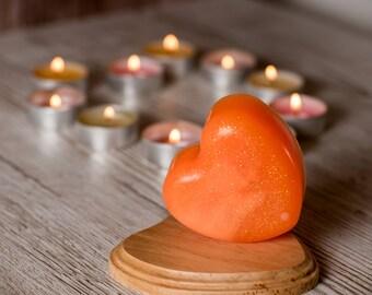 Bright orange soap