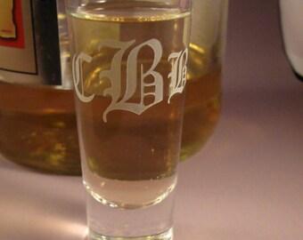 Personalized Gift Monogram Shot Glasses - Set of Two - Shooters - Custom Shot Glasses - Custom Barware - Monogrammed Shot Glasses