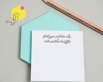Sticky Notes - Positive Thoughts - Positive Sticky Notes - Self Care - Stationery - Gift - Positivity - Kindness - Love - Po