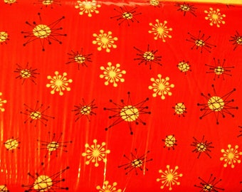 Michael Miller Star Jacks Coral Fabric, Sewing Cotton Fabric, Clothing Fabric, Quilting Fabric, Crafting fabric, BTY, #129