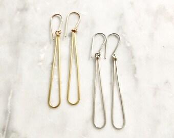 Tear Drop Wire Earrings