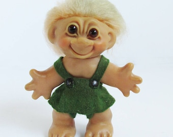 "années 1960 Thomas Dam 5 1/2"" Troll Doll - Made in Danemark"