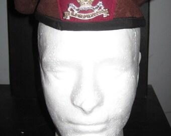 1970s Era BRITISH Military Army Calvary Regiment ROYAL HUSSARS Beret