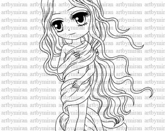 Digital Stamp-Venus, Digi Stamp, Coloring page, Printable Line art for Card and Craft Supply