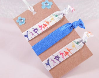 Ice Skating Hair Ties - Ice Skate Party Favors - Colorful Hair Ties - Blue Hair Ties - Party Prizes
