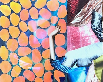 framed fashion collage with dichroic film
