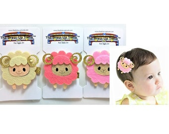 Our Hairclips_Cuddly Sheep