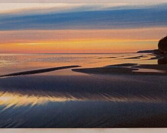 Picture Postcard: Chesapeake Beach, Maryland, (Winter Sunrise, December 2017) HQ 5X7 in.