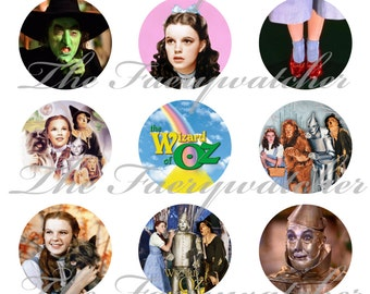 """1"""" Inch Wizard of Oz Magnets, Pins or Flatback Buttons 12 Ct. Set D"""