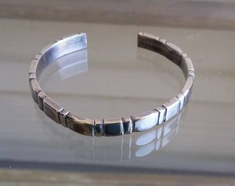 Vintage 24.3 grams sterling silver bracelet for very small wrist or children's