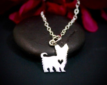 Yorkie necklace etsy yorkie necklace yorkshire terrier necklace yorkie jewelry sterling silver terrier necklace aloadofball Choice Image