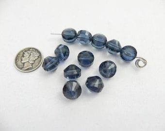 Swarovski 5101 Montana Various Sizes Vintage Crystal Beads