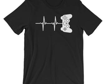 Heartbeat Of A Gamer T-shirt Gaming Tee