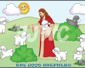 The GOOD SHEPHERD Children's File Folder Game - Downloadable PDF Only
