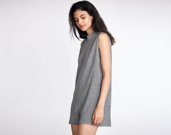 Grey Sleeveless Romper