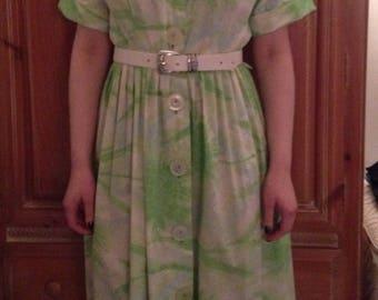 Vintage 1950s/60s Cotton Short Sleeve Day Dress