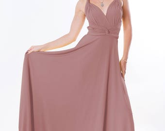 Maxi bridesmaid dress with tube top Infinity dress
