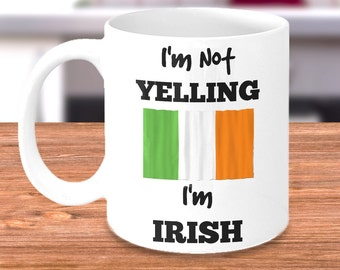Funny Irish Coffee Mug - Irish Gifts for Mom or Dad - For Family Made in Ireland - Perfect for Mother's or Father's Day