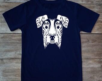 Dog shirt, animal shirt, dog tattoo, dog tee, zen style shirt, dog print shirt, henna print shirt, hipster gift, gift for tattoo lovers