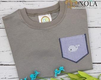 Whale Pocket Tee, Whale Shirt