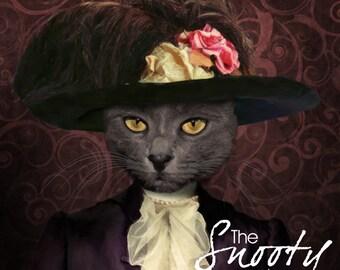 Cat Portrait, Victorian Cat Portrait, Cat Portrait Custom