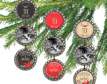 personalized pet memorial ornament cat christmas ornament custom dog photo ornament pet remembrance pet memory