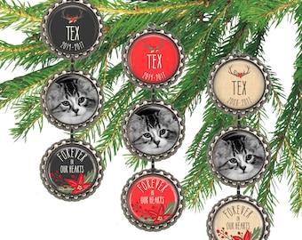 personalized pet memorial ornament cat christmas ornament custom dog photo ornament pet remembrance pet memory