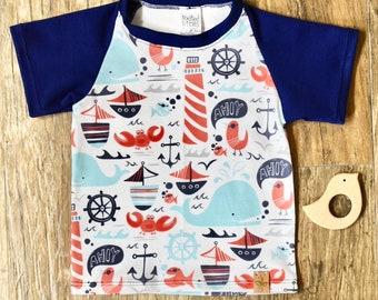 Ahoy Matey Raglan T Shirt
