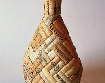 Glass Bottle Lined with Cork