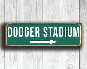 DODGER STADIUM Sign, Vintage style Dodger Stadium Sign, Dodger Stadium Signs, Home of the LA Dodgers, baseball Gifts, Los Angeles Dodgers