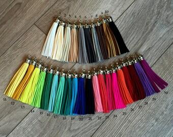 30 piece wholesale suede tassels, large Tassels, suede tassels, 85 mm fringe tassels, tassel charms, DIY jewelry tassels, large tassels