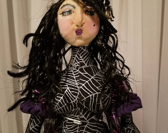 Handmade Cloth Doll. Averil the Wicked Witch