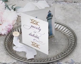 Tri-fold Wedding Invitations - Westcoast Days (Style 13683)