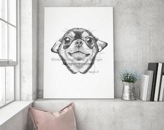 Chihuahua Print, Chihuahua Art, Chihuahua Dog, Chihuahua Gift, Chihuahua Poster, Dog Lover Gift, Chihuahua Painting, Chihuahua Lover,