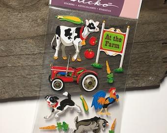 Farm Animal Stickers EK Success Gift Scrapbooking Journal Supplies Paper Crafting Paper Decorations Stickers Barn Sticko Stickers Farm Barn