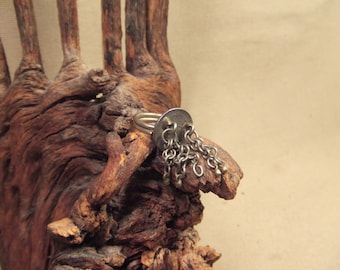 Tribal silver ring  size  adjustable ---(FREE SHIPPING)---