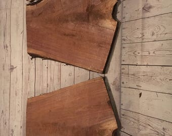 "2 Walnut Slabs Aprox 23"" x 24"" - 14"" x 1.75"" Ideal for two tier shelf etc"