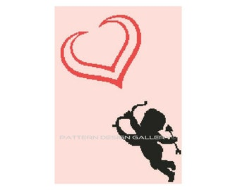 Cupid Angel Heart Graph Crochet Pattern Angel Heart Love Afghan Graphgan Crochet Pattern PDF Instant Download
