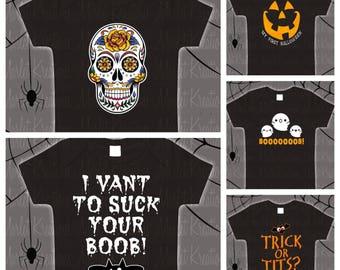 Kid size Halloween tees or onsies