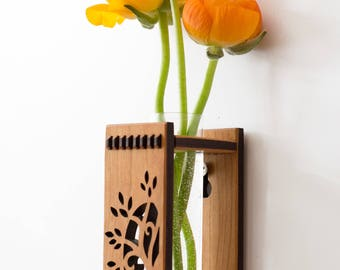 Wood Bud Vase - Tree