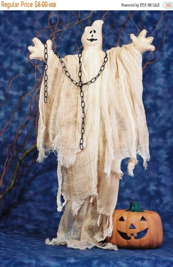 ON SALE Ghost - Mailed Cloth Doll Pattern Halloween Ghost