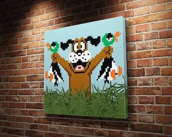 Duck Hunt Dog & Ducks Canvas Print