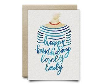 Lovely Lady Birthday Card