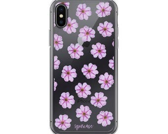 Purple Flowers - iPhone Case