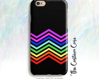 Rainbow Chevron on Black IPhone Case, Rainbow Chevron Case, Chevron Iphone Case, Iphone 8, Iphone 8 plus , Iphone X case