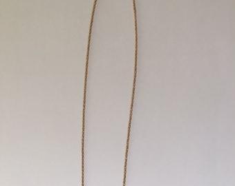 Delicate Brass V Collar Necklace