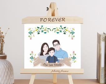 Custom Family Portrait Illustration | Custom Portrait Illustration  | Personalized Illustration | Family Drawing Cartoon | Couple Portrait