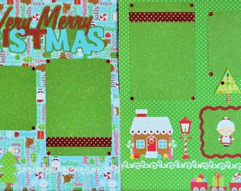Wishing You A Very Merry Christmas Two-Page 12 X 12 Scrapbook Layout By SSC Designs